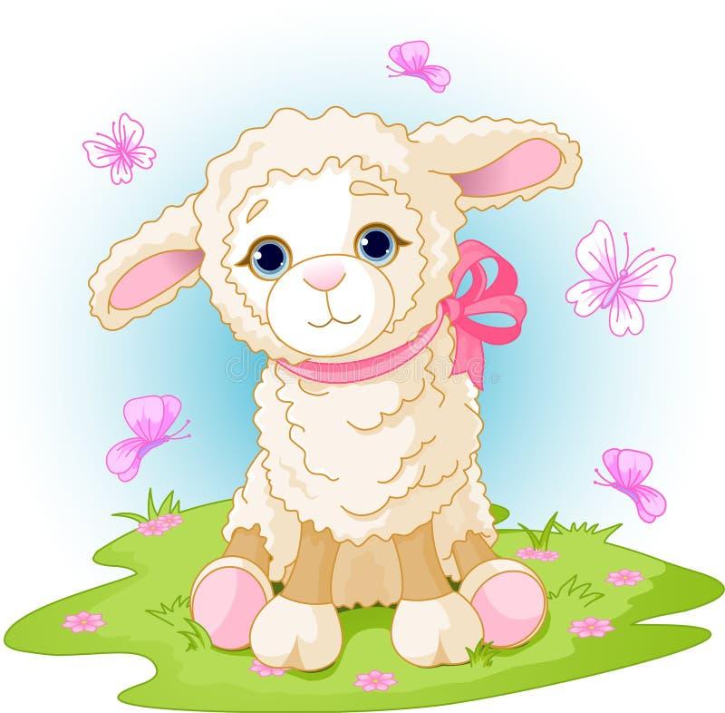 Cordero de Pascua stock de ilustración