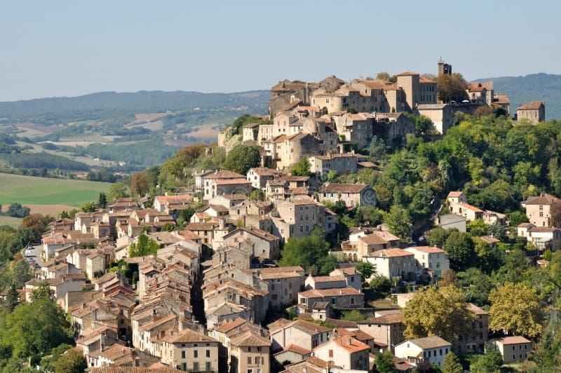 Cordes苏尔Ciel,法国镇  免版税库存照片