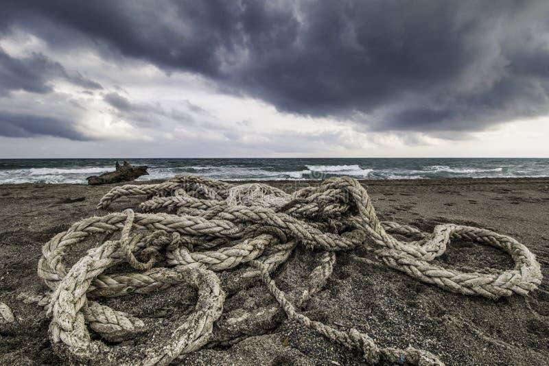 Cordes échouées photo libre de droits