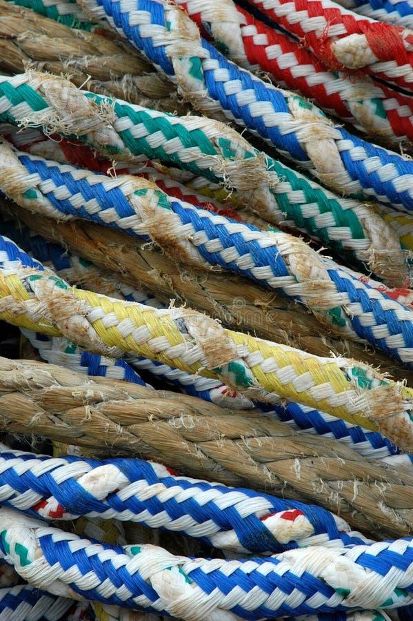 Cordes au bateau images libres de droits