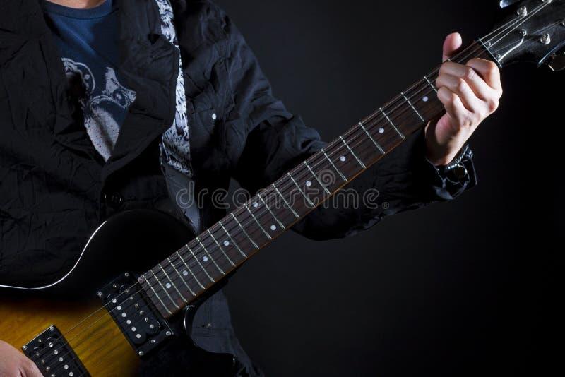 Cordes de pouvoir de guitare photos stock