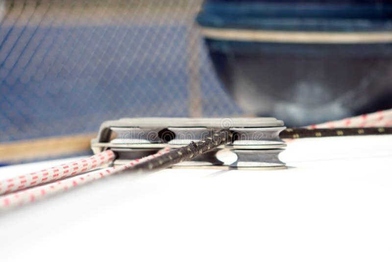 Cordes de yacht photographie stock