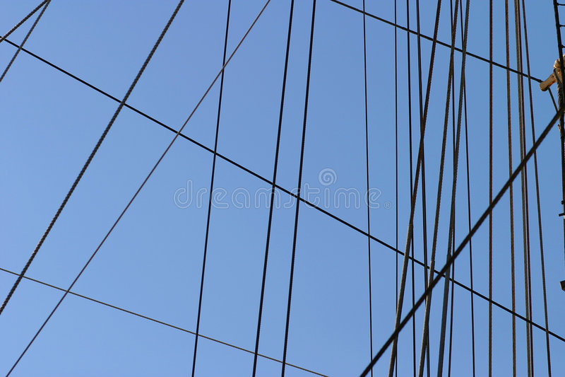 Cordes et calage image libre de droits