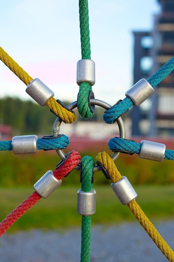Cordes sur le matériel de pièce image libre de droits