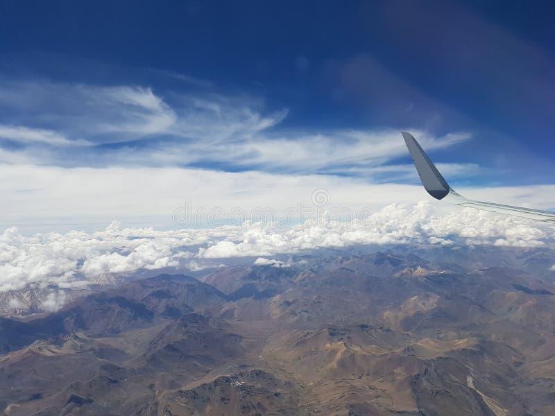 Cordigliera de los le Ande dal cielo fotografie stock libere da diritti