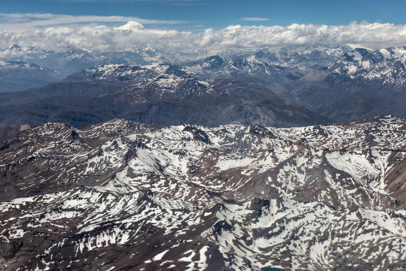Cordilheira dos安地斯-智利-夏天 免版税库存图片