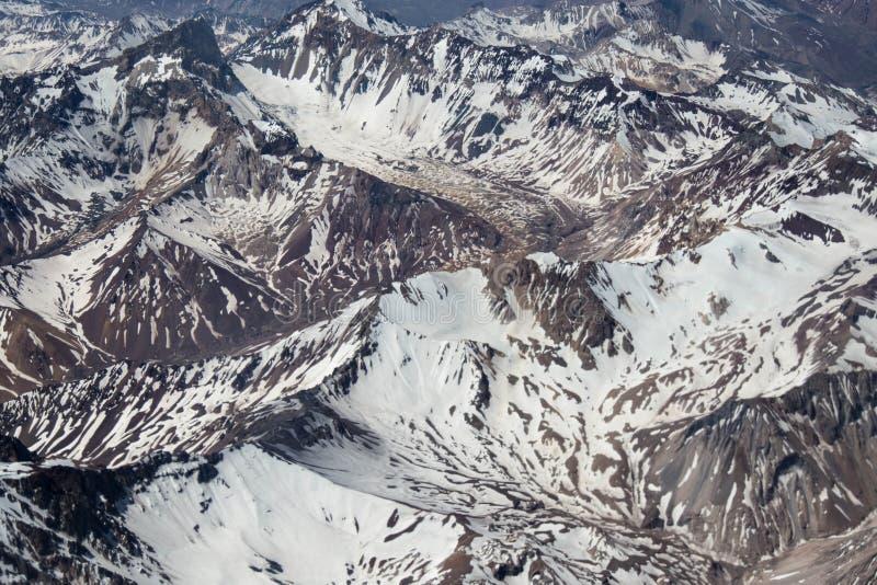 Cordilheira dos安地斯-智利-夏天 免版税库存照片