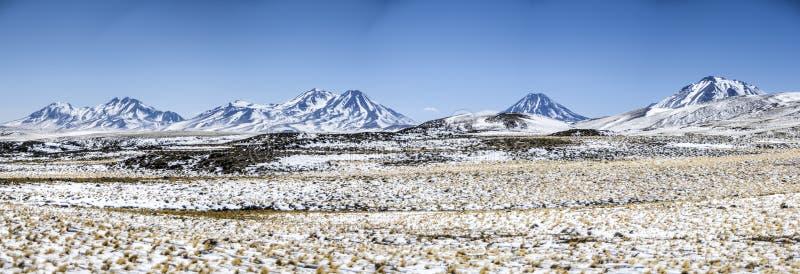 Cordilheira perto do deserto de Atacama, o Chile imagens de stock royalty free