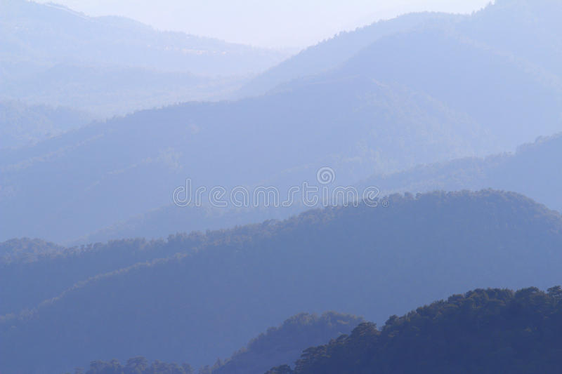 Cordilheira, Troodos, Chipre imagem de stock royalty free