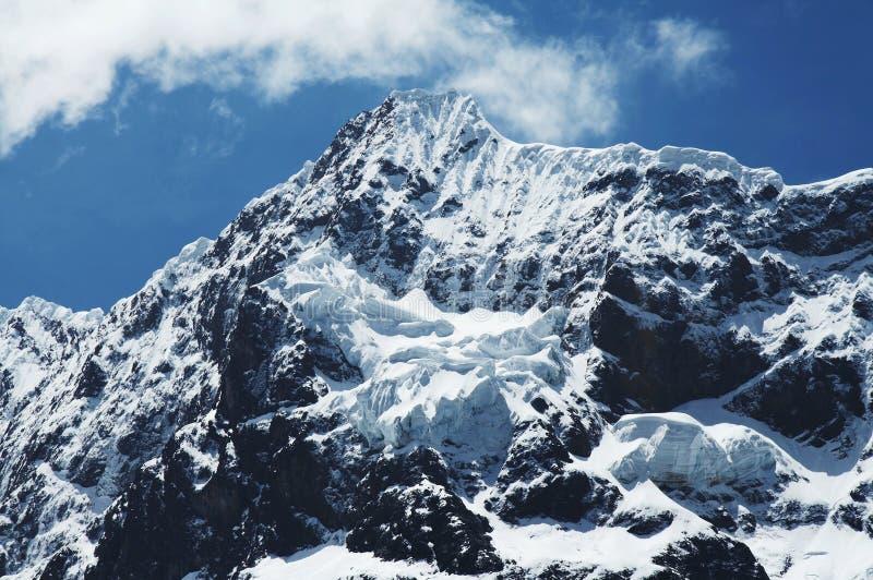 Cordillères de haute montagne photographie stock