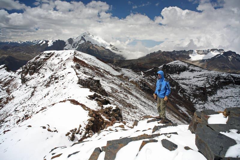 Cordillères de la Bolivie image libre de droits