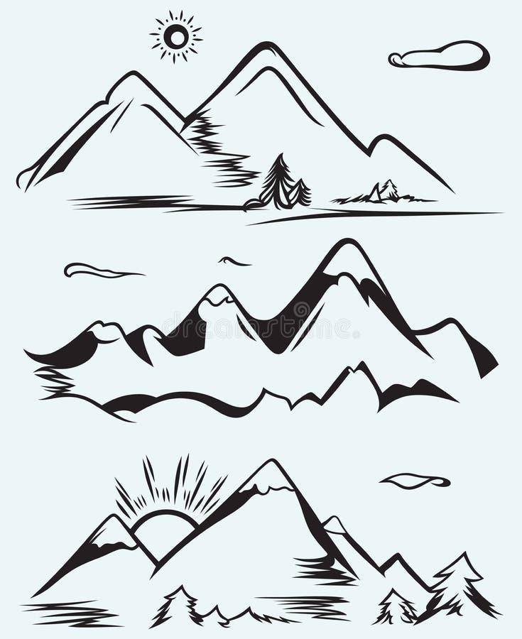 Cordillera stock de ilustración