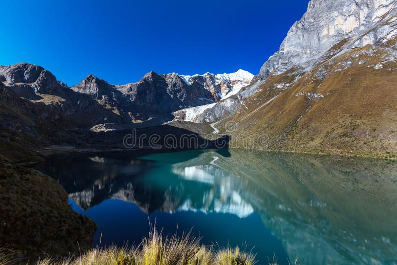 Cordillera. Beautiful mountains landscapes in Cordillera Huayhuash, Peru, South America stock images