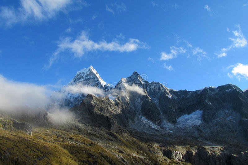 Cordillera Blanca Santa Cruz Track, Punta-Unie pas royalty-vrije stock afbeelding