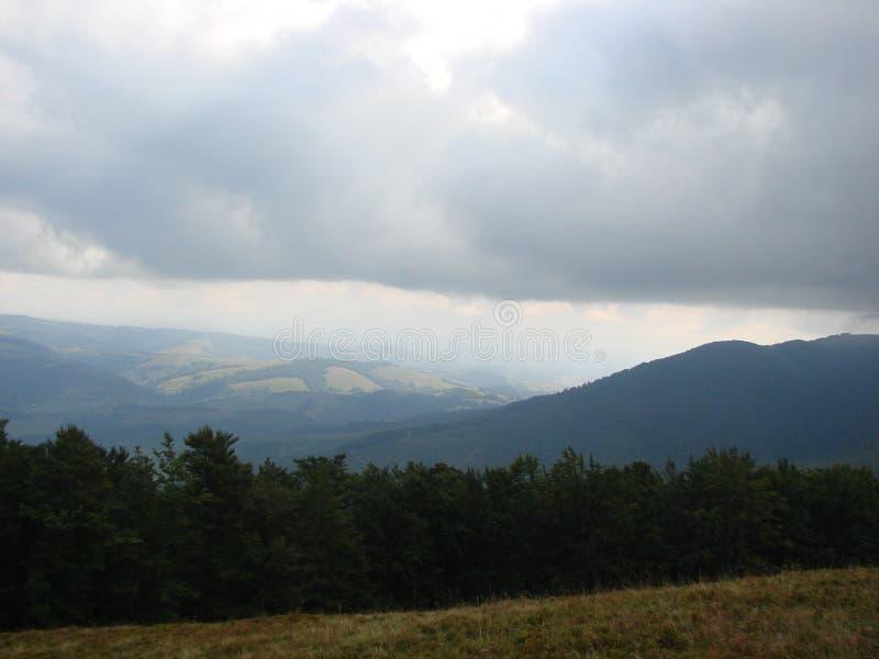 Cordillera de Borzhava de los Cárpatos ucranianos en la región transcarpática ucrania Verano 2016 fotografía de archivo