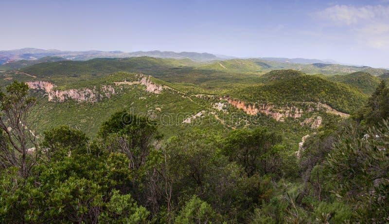Cordillera de Cerdeña cerca de Ulassai fotos de archivo