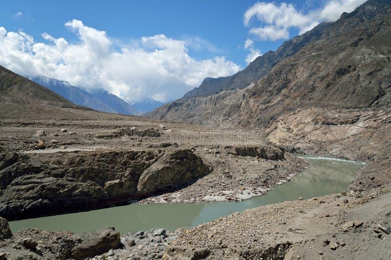 Cordillera de Karakoram foto de archivo