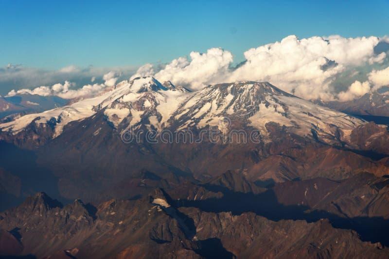 Cordillera DE Los de Andes stock afbeelding
