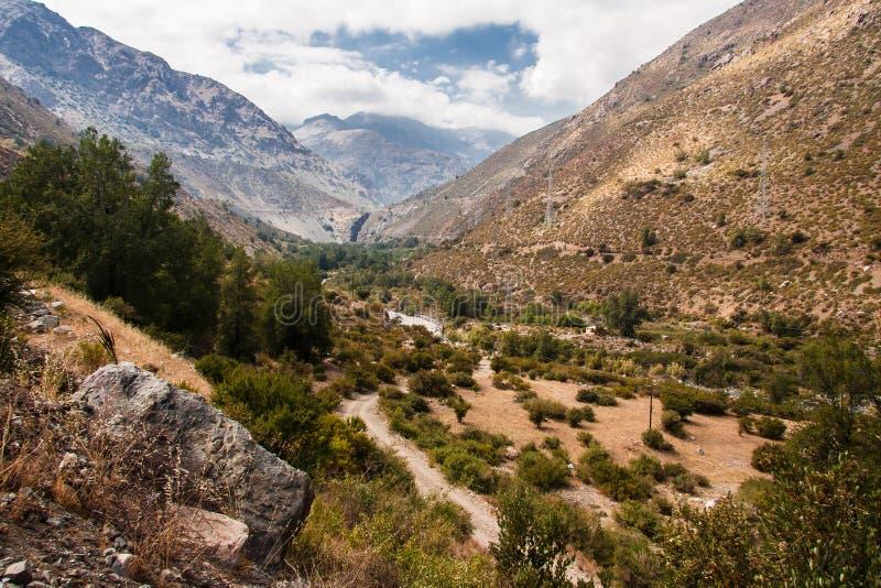 Cordillera DE Los de Andes royalty-vrije stock foto's