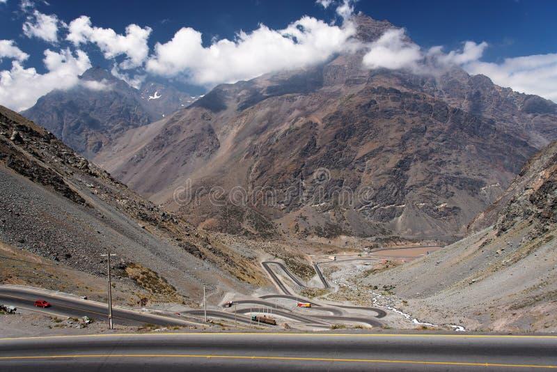 Cordillera DE Los de Andes royalty-vrije stock afbeeldingen