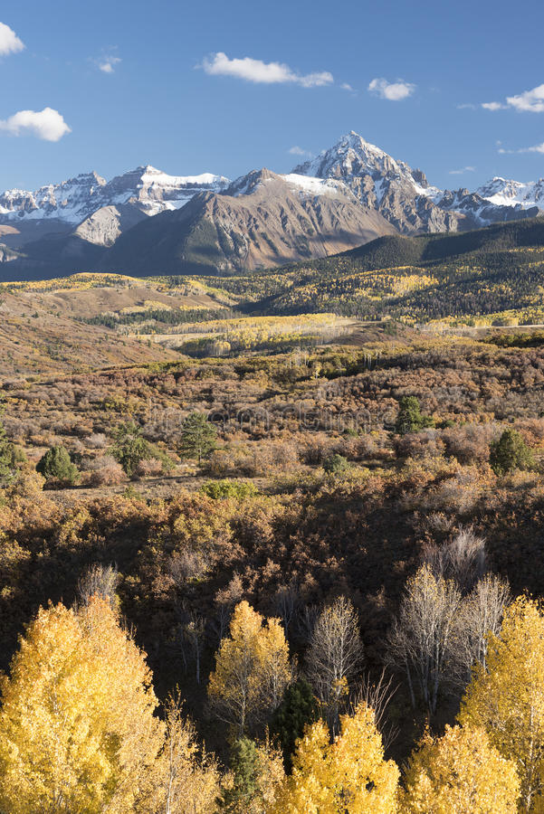 Cordillera de Sneffels del soporte en otoño fotografía de archivo