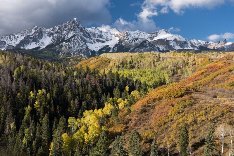 Cordillera de Sneffels del soporte situada en Colorado al sudoeste fotografía de archivo libre de regalías