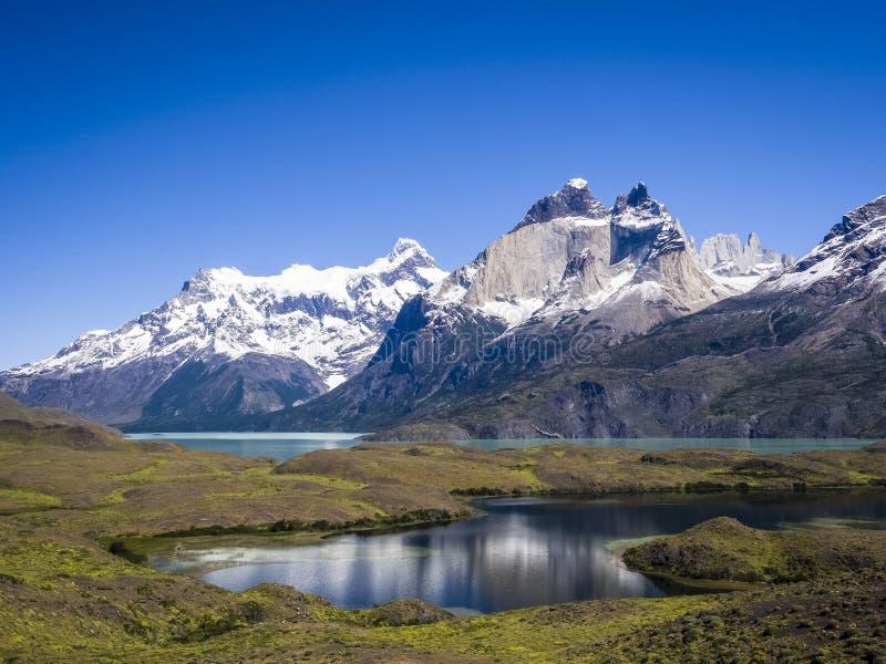 Cordillera del Paine arkivfoto
