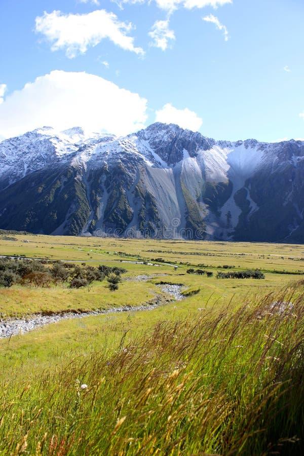 Cordillera en Nueva Zelanda fotos de archivo
