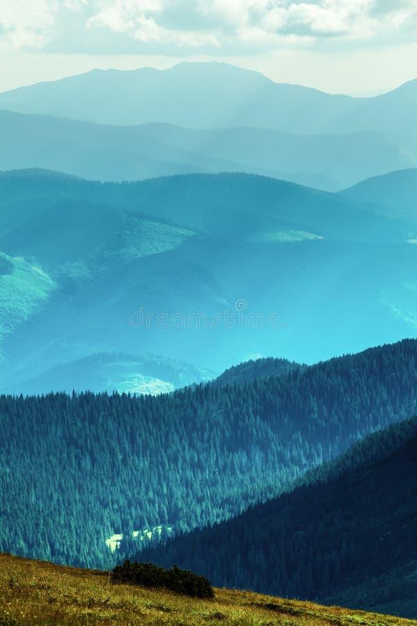 Cordillera en verano fotos de archivo libres de regalías
