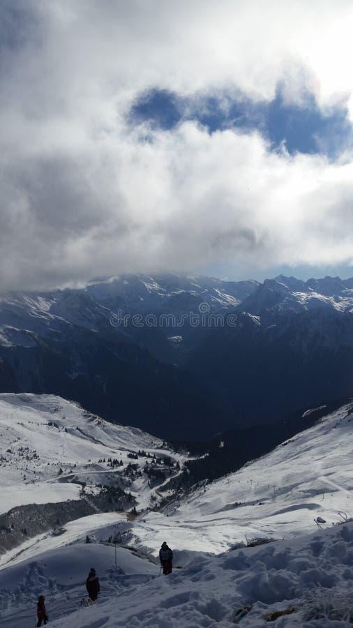 cordillera francesa de las montañas imagen de archivo libre de regalías