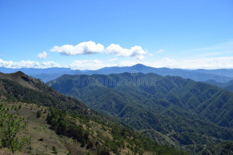 Mount Ulap, mt Ulap, Cordilleras mountain ranges, Ampucao mountain ranges, Ampucao, Itogon, Benguet, Philippines. Cordillera Mountain Range, viewed at High Noon stock image