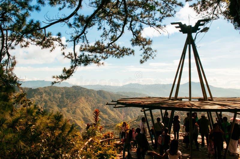 Cordillera Mountain View en las minas ven el parque, ciudad de Baguio, phi fotos de archivo libres de regalías