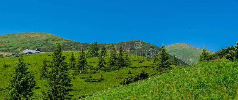 Cordillera y Hoverla de Chornohora imagen de archivo libre de regalías