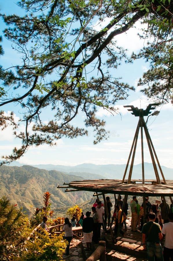 Cordillerabergen bij het Park van de Mijnenmening, Baguio-Stad die, Phi worden bekeken stock foto