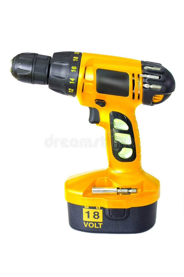 Download Cordless Drill stock photo. Image of equipment, isolated - 8648080