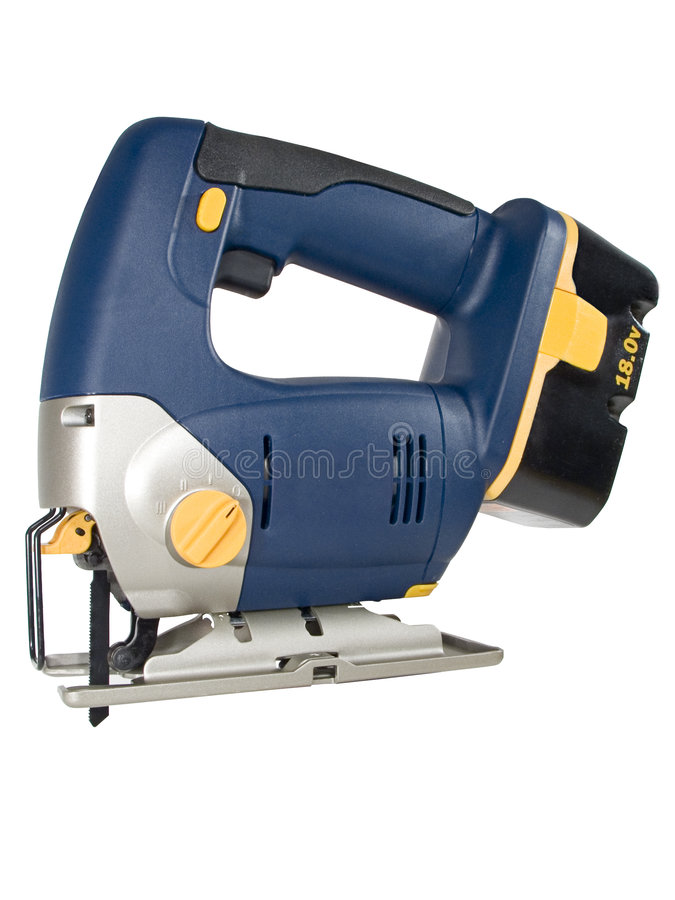 Download Cordless Jig Saw stock photo. Image of reciprocating, yellow - 455496