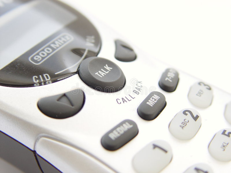 Download Cordless Phone stock photo. Image of communications, isolated - 2694