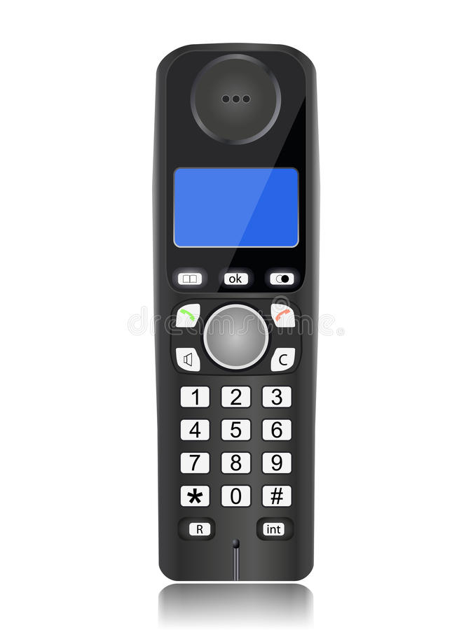 Cordless phone stock illustration