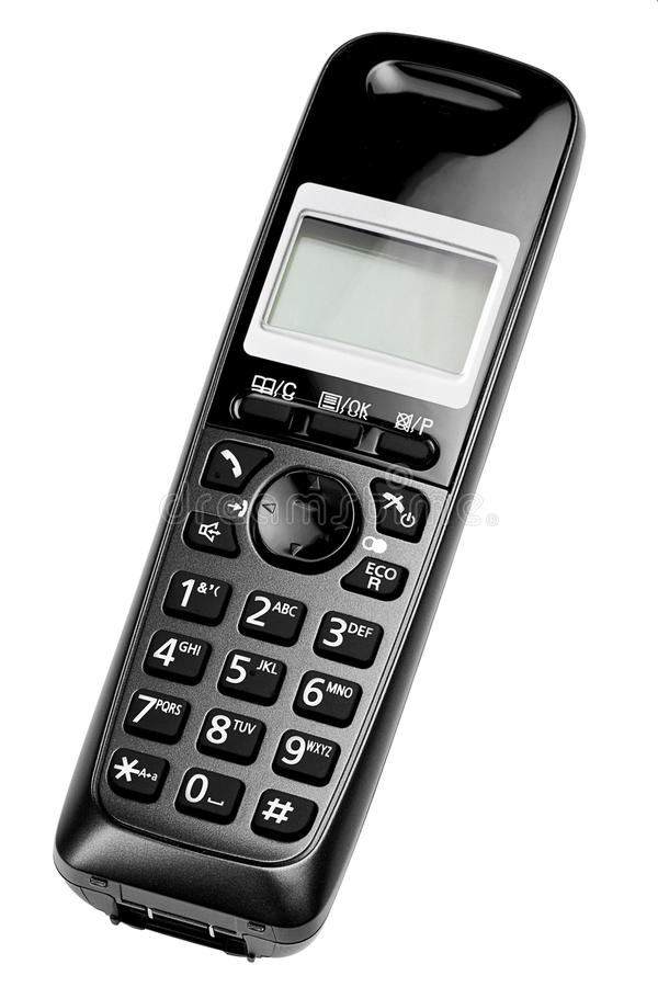 Black Cordless Phone stock photos