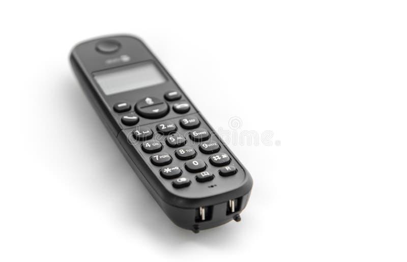 Cordless phone isolated on white background royalty free stock image