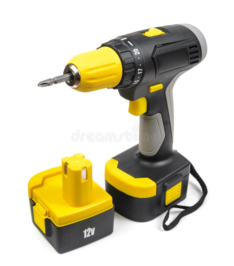 Cordless Screwdriver royalty free stock images