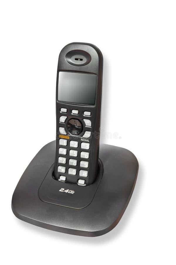 Download Cordless telephone stock photo. Image of black, talking - 20823272