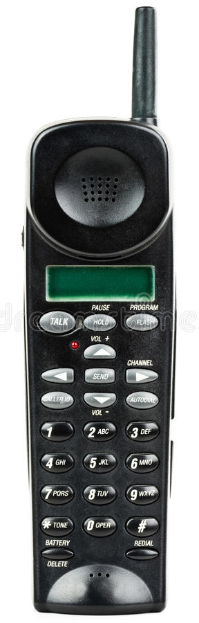 Cordless Telephone Handset with Caller ID royalty free stock photo