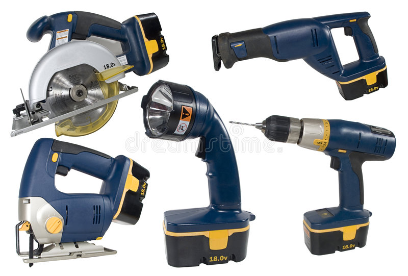 Download Cordless Tool Set stock image. Image of sharp, light, reciprocate - 450533