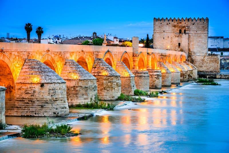 Cordoba - римский мост, Андалусия, Испания стоковое изображение rf