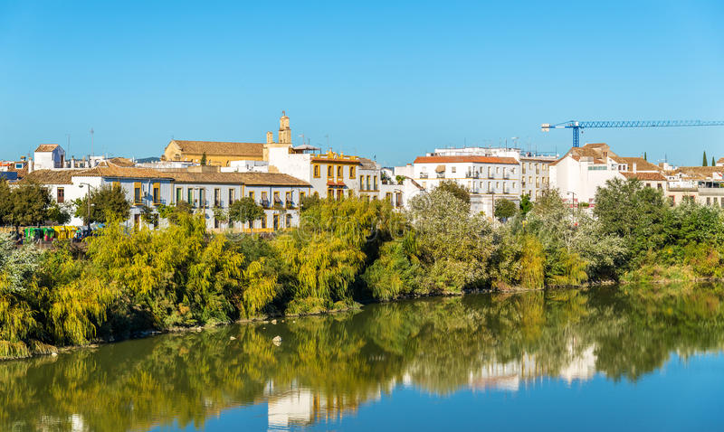 Cordoba city above the Guadalquivir river in Spain. Cordoba city above the Guadalquivir river in Andalusia, Spain royalty free stock photos