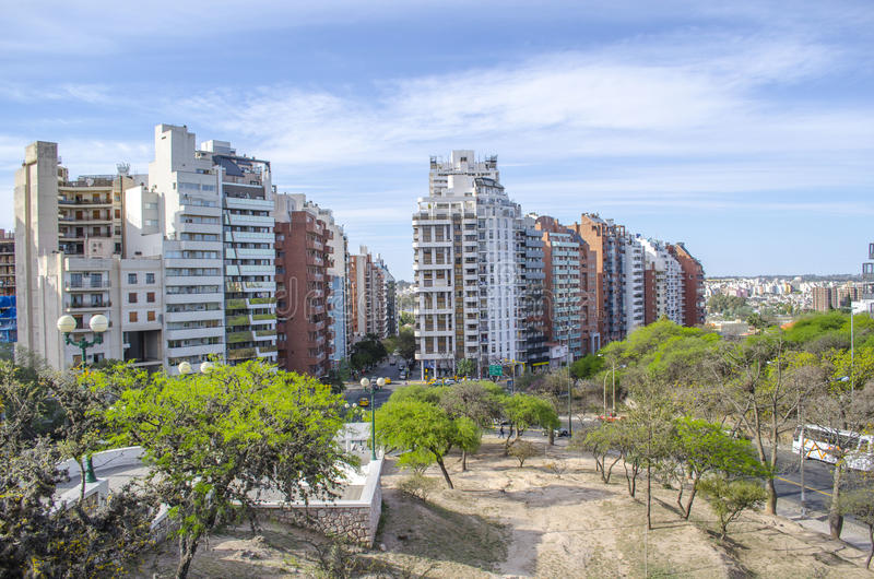 Cordoba cityscape. Amazing Cordoba cityscape taken from Sarmiento park royalty free stock photography