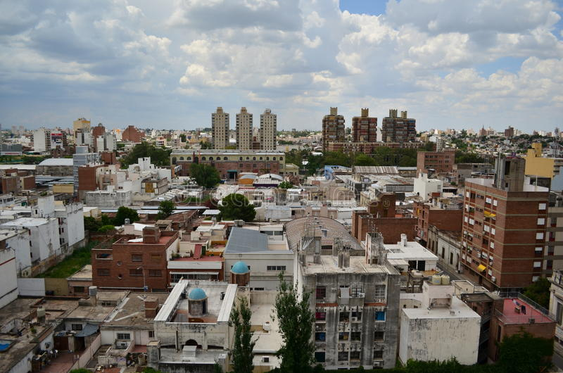 Cordoba cityscape. Buildings and departments stock photos