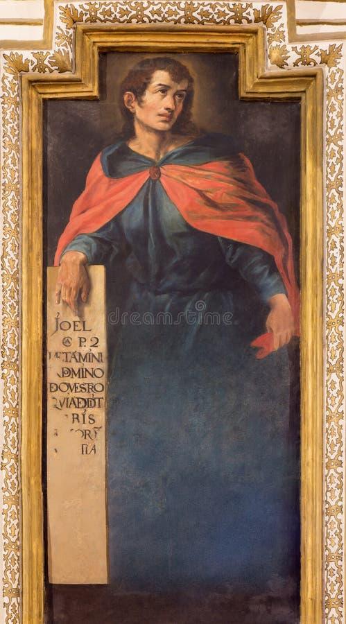 Cordoba - de fresko van helderziende Joel stock afbeeldingen