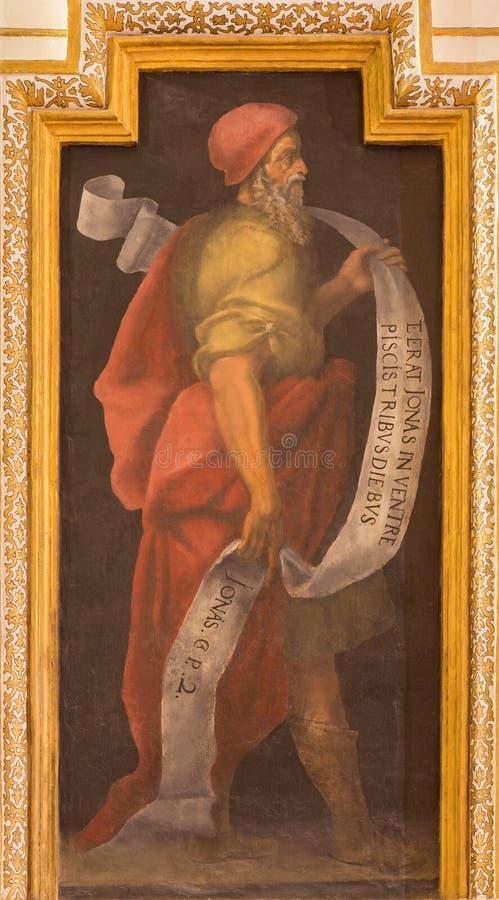Cordoba - freskomålningen av profetolycksbringaren arkivfoto